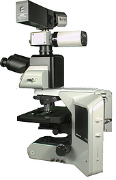 PARISS Hyperspectral Imaging System mounted on a microscope